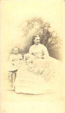 WOMAN W/2 CHILDREN.MARKED SECOND SON OF THE KING-HANNS HANFSTANGL DRESDEN