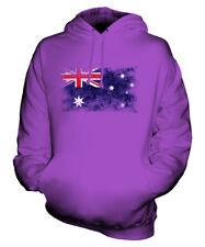 AUSTRALIA DISTRESSED FLAG UNISEX HOODIE TOP AUSTRALIAN  FOOTBALL JERSEY