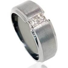 1/4ct Princess Cut Mens Diamond Ring 14K Black Gold