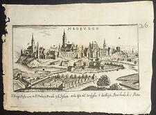 1648-GERMANIA-NEOBURGO-NEUBURG-Birken, Sigismund-VEDUTA ORIGINALE ALL'ACQUAFORTE