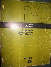 John Deere 18 & 20 Inch Rotary Mower 1976:Parts Catalog