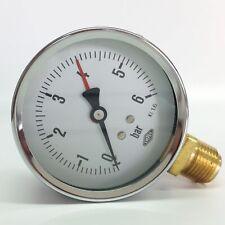 "Manometer Ø80mm  G1/2"" unten,  - alle Messbereiche - EMPEO - Made in Germany"