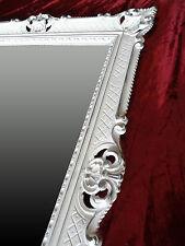 Baroque Mirror Wall White/Silver Dual Antique Rococo 90x70 cm Repro