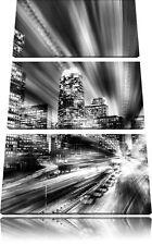 Los Angeles Matrix 3-Teiler Leinwandbild Wanddeko Kunstdruck
