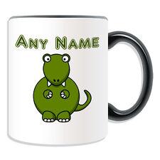 Personalised Gift Tyrannosaurus Mug Money Box Cup Name Silly Trex T Rex Dino