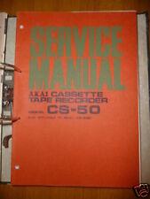 Service Manual Akai CS-50 Tape Recorder,ORIGINAL