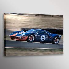 Vintage 1966 Ford GT40 GT-40 Racecar Car Automotive Photo Wall Art Canvas Print