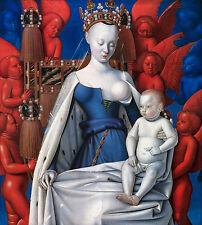 Jean Fouquet, Madonna, Virgin and Child, Christian Jesus Art, Canvas Print
