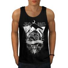Wellcoda Dead Wings Crow Mens Tank Top, Sleeping Active Sports Shirt