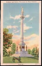 YORK PA Penn Common Soldier Sailors Monument Postcard