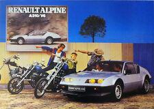 Renault Alpine A310 V6 & Bikes Coche Clásico Cartel impresiones de fotos A1