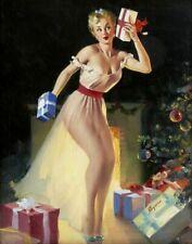 Vintage Pin-Up A Christmas Eve Elvgren PINUP227 Print Poster A4 A3 A2 A1