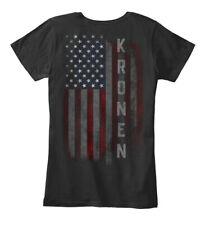 Kronen Family American Flag Women's Premium Tee T-Shirt