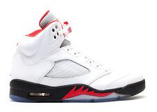 Brand New Air Jordan 5 Retro Men's Athletic Fashion Sneakers [136027 100]