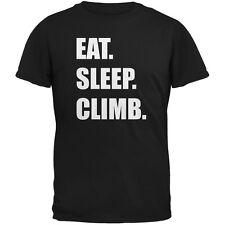 Eat Sleep Climb Black Adult T-Shirt