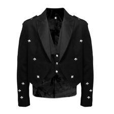 Tartanista Value Black Prince Charlie Kilt Jacket & Waistcoat 36 - 58R