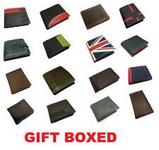 Para Hombre Diseñador J Wilson Auténtico Cuero Billetera Plegable de crédito tarjeta titular Bolso