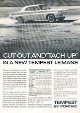 1962 Pontiac Tempest LeMans V2 Vintage Advertisement Ad