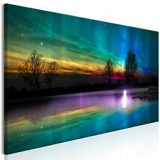 Wandbilder xxl Polarlicht Leinwand Bilder Nordlicht Wohnzimmer c-C-0192-b-a