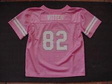 NWT Jason Witten 82 Dallas Cowboy MESH Jersey Toddler Pink Gitter/Metallic Sz 4T