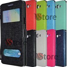 Cover Custodia Per SAMSUNG Galaxy A7 A700 Flip Eco Pelle Magnetica piu Pellicola