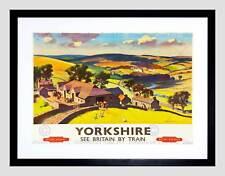 TRAVEL Yorkshire Inghilterra UK Dale Valley farm oche Framed Art Print b12x3370