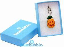 Bluebubble TRICK OR TREAT 15mm Pumpkin Face Keyring Gift Box Funky Fancy Dress