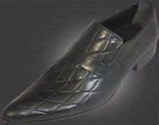 100% Chelsy - Top Italienischer Designer Slipper Karomuster handmade schwarz