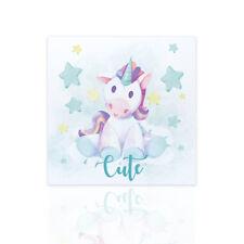 Quadro moderno per bambini Unicorno Decorazione Cameretta Nascita Bebé Stanza
