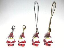 SALE New Santa Clause Father Christmas Handbag Purse Clip on Bell Rattle Charm