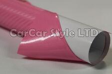 "3d De Fibra De Carbono Vinilo 600 mm (23,6 "") X 1520mm (59,8 En) Abrigo película pegatina Airfree"