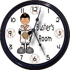 "San Francisco Giants Personalized Clock MLB Baseball Posey Pagan Custom New 10"""