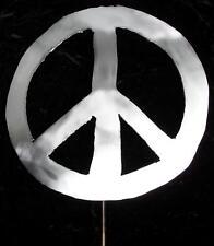 PEACE Sign Symbol Metal Garden Yard Lawn Art Stake