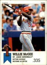 1991 Panini Canadian Top 15 Baseball Choose Your Cards