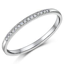 Palladium Diamond Ring 950 Diamond Eternity Engagement Wedding Band
