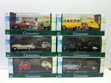 Cararama Classic Car & Caravan set (6)
