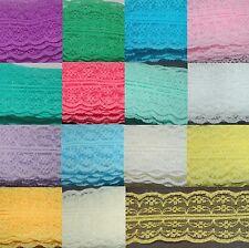 Spitze Spitzenborte Synthetische Lace Spitzenband Polyester 32 Farben ab 0,40€/m