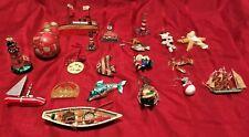 Nautical, Fishing, Sealife, Ship and Lighthouse Themed Christmas Ornaments