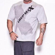 T-shirt allenamento Training Top Bodybuilding Palestra Wear-Grigio X-TEE DA 1 REP MAX