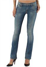 Lee Bonnie Vaqueros Nuevos W30-W32 L31 Mujer Denim Rectos Pantalón Stretch Azul