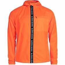 Bjorn Borg logo heren Windbreaker jacket met rits, schokkend oranje