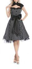 50er Jahre Rockabilly-Kleid 50's Vintage Fifties Retro - Betty Schwarz (ohne)