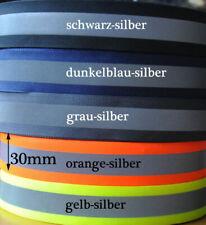 (1,37 EUR/m) 10 Meter Reflektor/Leuchtband, 30 mm, 5 Farben