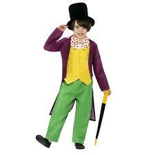 Niños Chicos Oficial Roald Dahl Willy Wonka Disfraz Elaborado Vestido Libro Día Semana