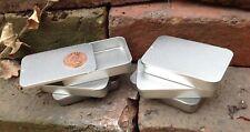 Rectangle Metal Tin Sliding Lid 40ml Camping Stash Lip Balm Geocaching Storage