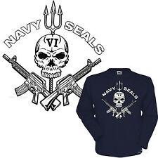 * Navy Seals Special Forces Totenkopf  T-Shirt *3195 LS