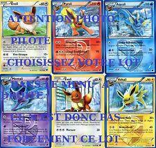 POKEMON 6 Cartes (MENTALI VOLTALI PYROLI EVOLI AQUALI etc...) GLACIATION PLASMA