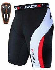 RDX Homme Short De Compression Cuissard Coquille Tight Running Boxer Sport FR