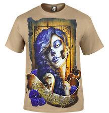SKULL SUGAR TAN T-Shirt/Tattoo/Mexican/Sugar Skull/Doll/Biker/Goth/Rock/Gift/Top