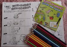 12 crayons de couleur + 1 CD audio + 1 jeu de Coloriage * Cadeau * Cris animaux